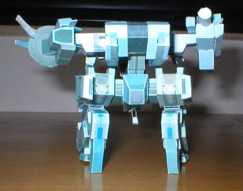 Metal Gear Rex Papercraft Instructions
