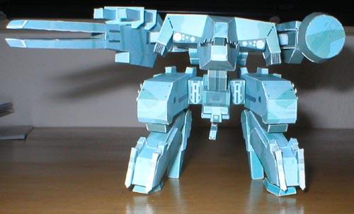 metal gear solid, metal gear rex, ps3, ps2, videojuego, papercraft